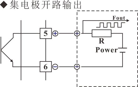 v/f转换器集电极开路输出接线图